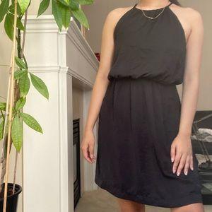 H&M Black Halter Lace Back Classy Mini Dress